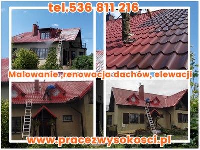 Malowanie ,renowacja dachów, elewacji.