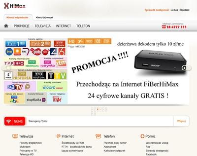 FiBerHiMax - telewizja, internet i telefon
